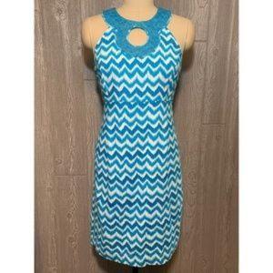 INC International Concepts Blue& White Dress Sz 10